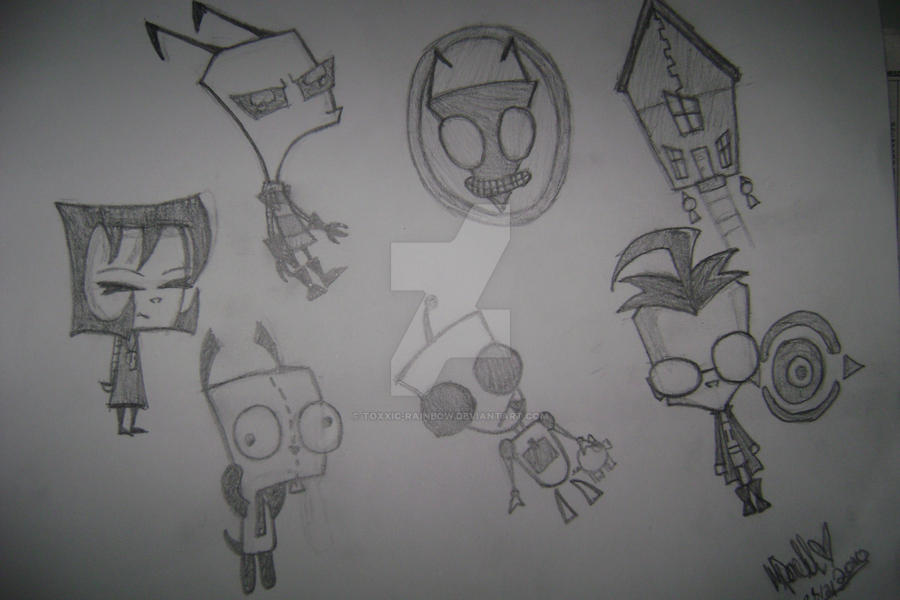 Invader Zim Characters by Toxxic-Rainbow