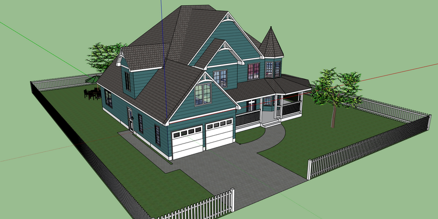 Google sketchup house by shai2623 on deviantart for Google house plans