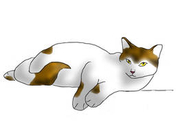 lazy cat for cafoe by 1mad-moo-cow1