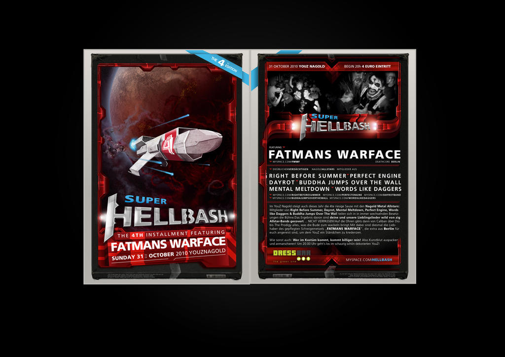 Hellbash 4 Flyers by fERs