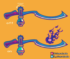 WeaponDesignChallenge - Shadow Sword of Flames