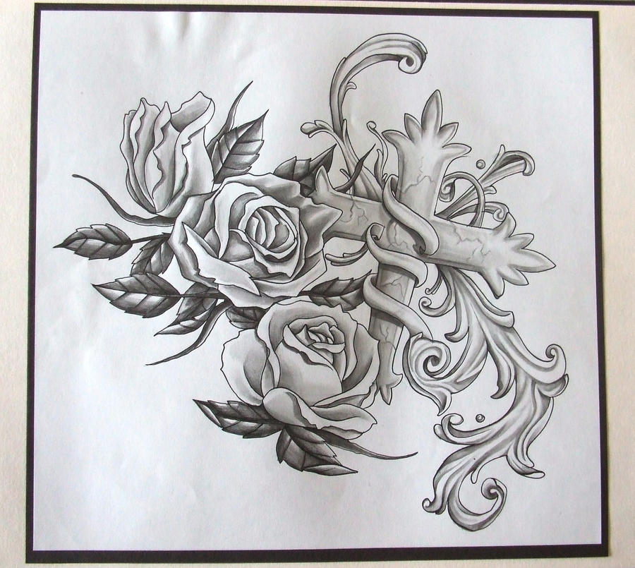 tattoo sleeve design roses by pablo0o on deviantart. Black Bedroom Furniture Sets. Home Design Ideas