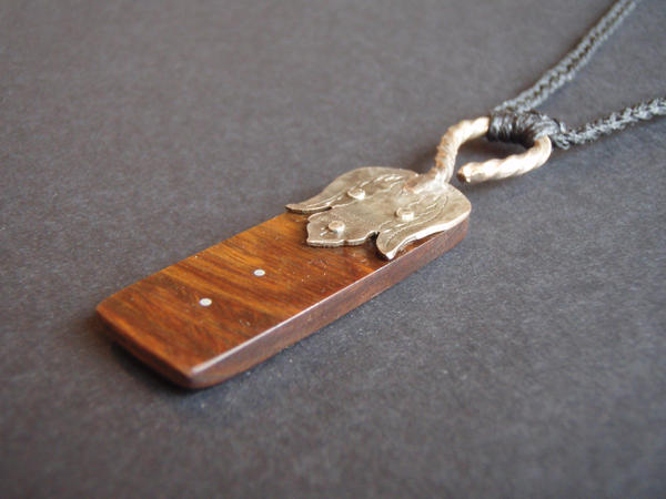 Wood pendant with silver inlay by if not for gravity on deviantart wood pendant with silver inlay by if not for gravity aloadofball Image collections