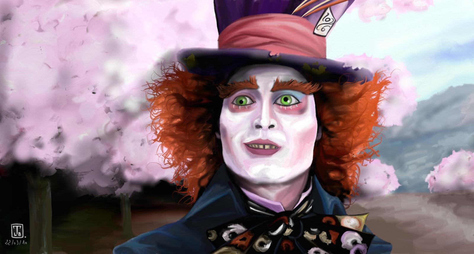 Alice in Wonderland (2010) Wallpaper: Mad Hatter Wallpaper!