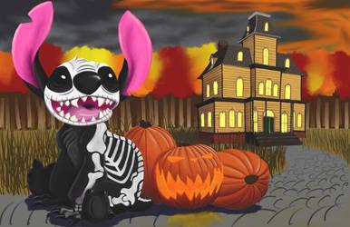 Halloween Stitch by lilsurferbabe