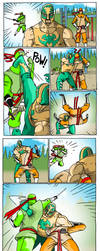 ninjat vs luchadore by jalmari