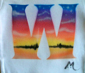 W Sunset T-shirt by marcony