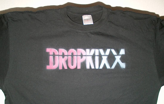 Dropkixx T-shirt (Red to White Fade)