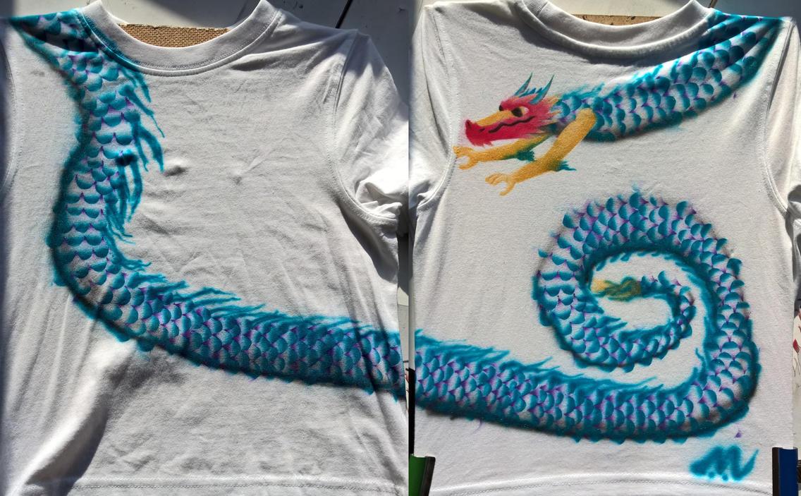 Long Dragon T-shirt by marcony
