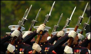 USMC Sunset Parade by chriswellner