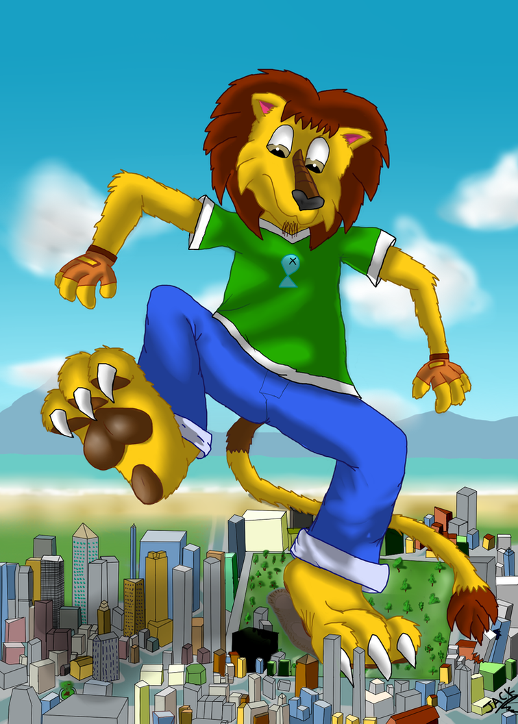 big lion by thelionjack