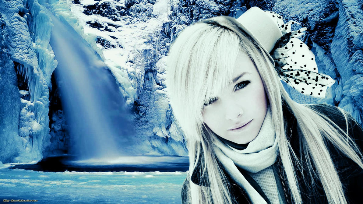 Snow girl wallpaper by darkludovic on deviantart snow girl wallpaper by darkludovic voltagebd Images