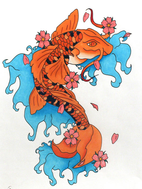 Koi fish tattoo copic by berakou on deviantart for How much does a koi fish cost