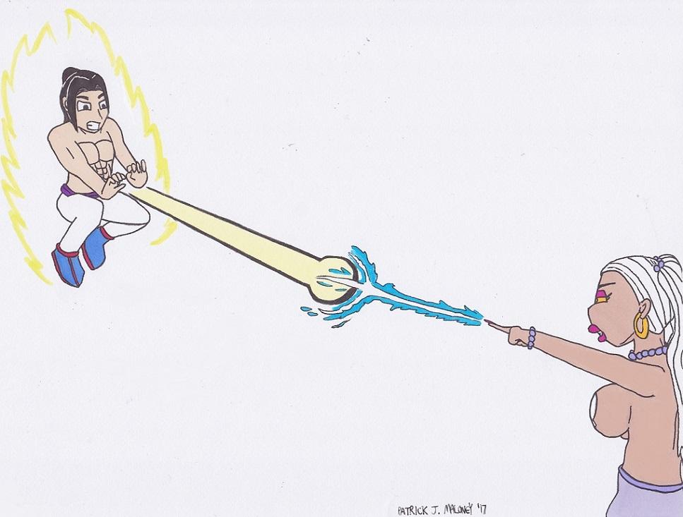 Shuma vs. Jeanie SAF by Kinggigasmon