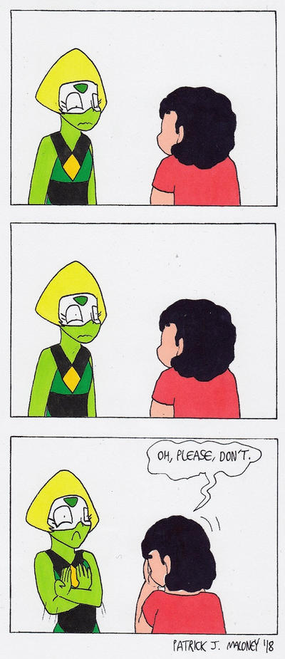 SU-Peridot Finds Out by Kinggigasmon