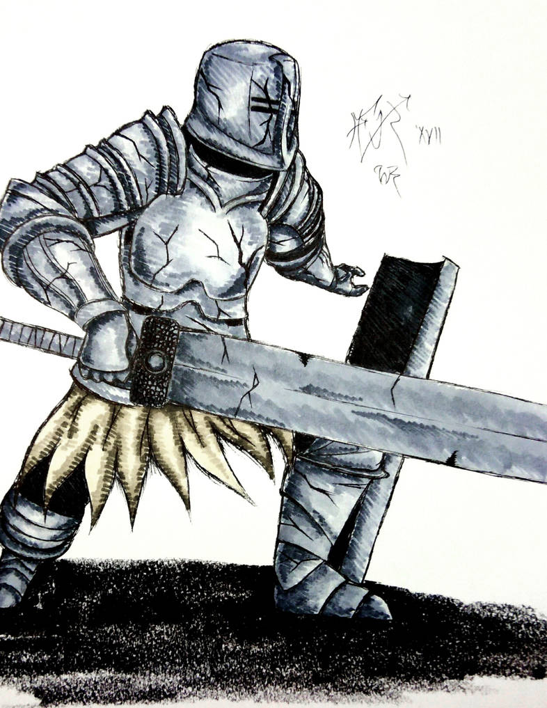 Inktober Day 2 Dark Souls Black Iron Tarkus By Fluxx Pwr On
