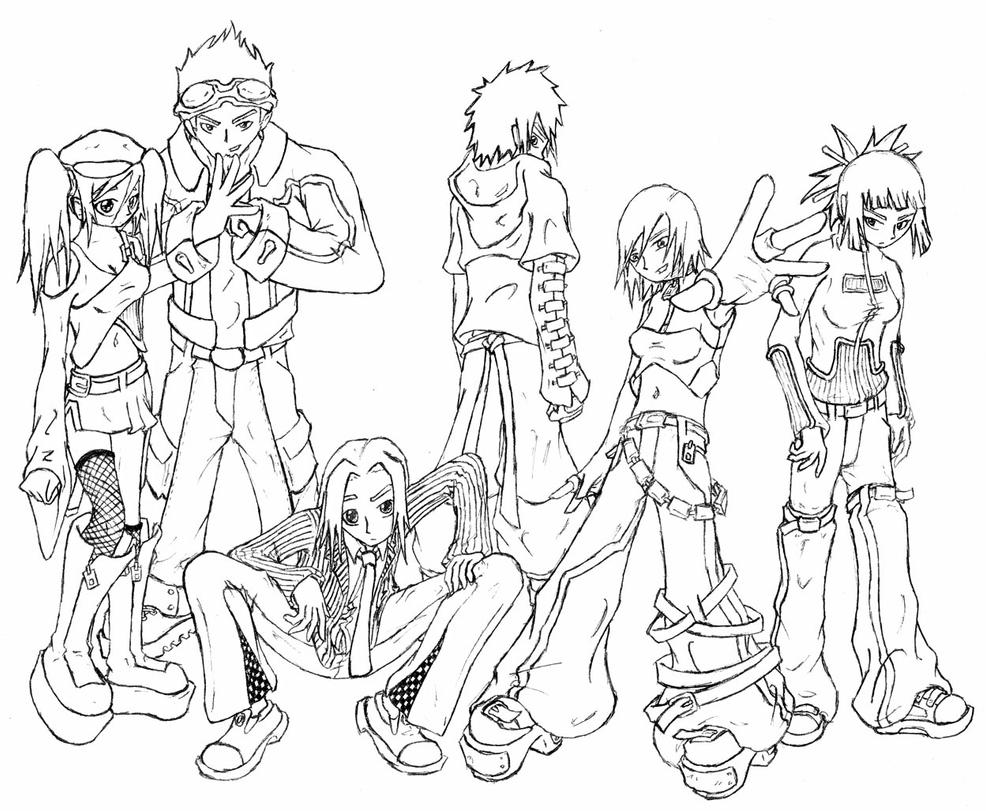 Line Art Person : Line art of a group people by spoonboy on deviantart