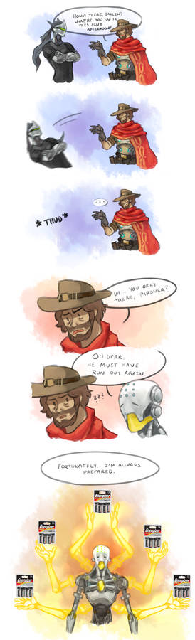 overwatch comic - drained