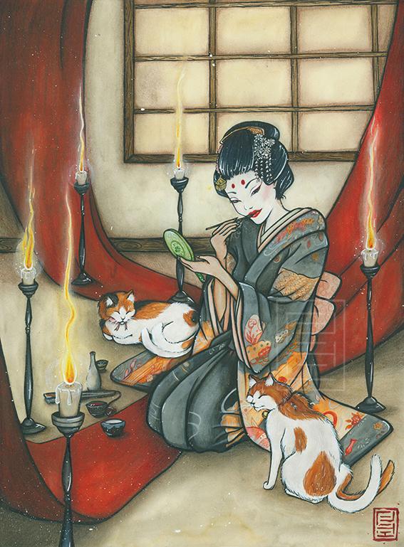 The young Geisha by Lilith-Samsa