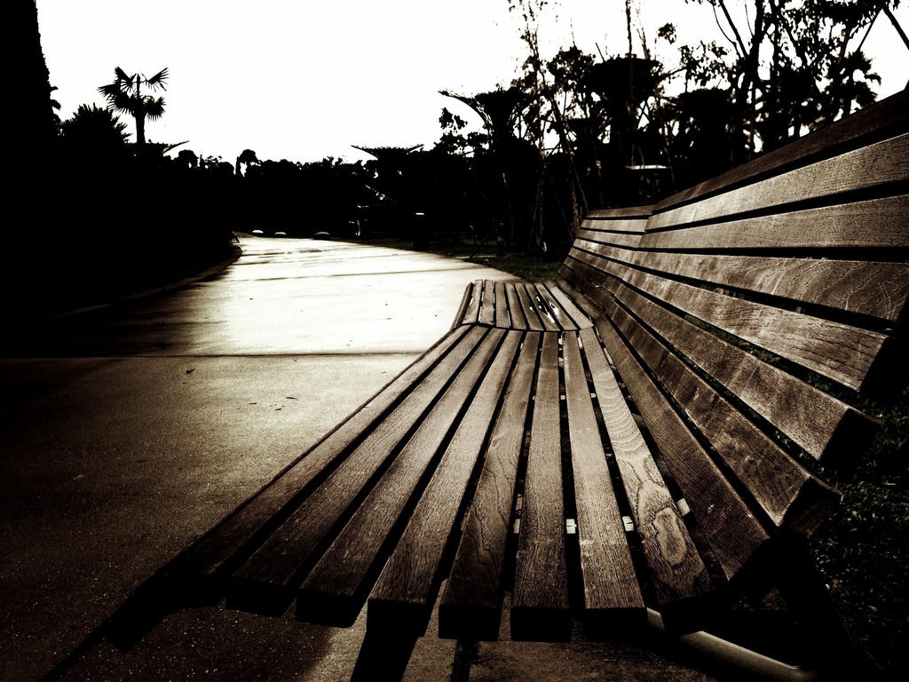 The Lonely Bench by paperbagsman