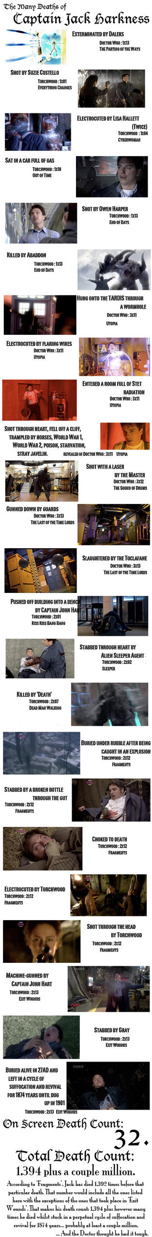 Capt Jack's Deaths as of TWS2 by BritTheMighty