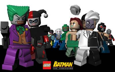 Arkham Asylum Rogues - in LEGO by BritTheMighty