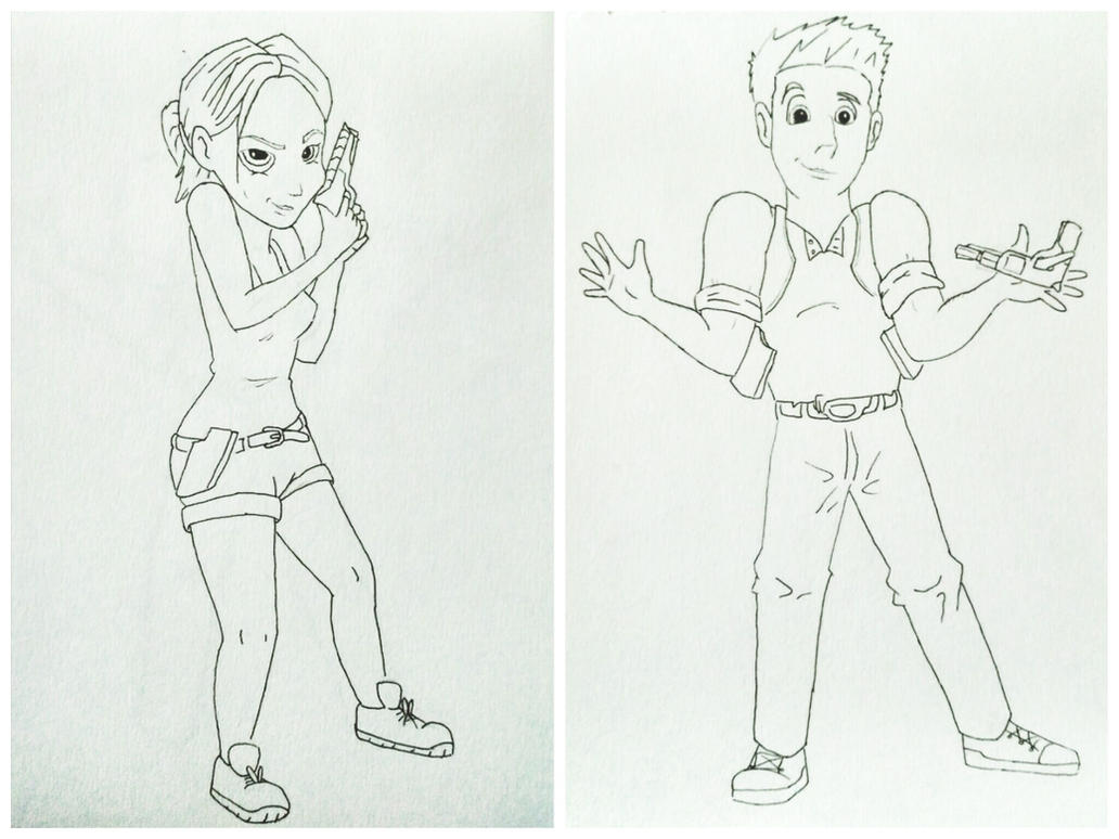 Elena Fisher and Nathan Drake - Disney Style by JoseMnw498