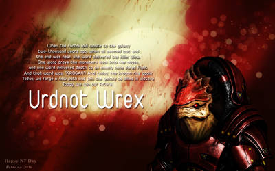 Urdnot Wrex: One Word by Belanna42