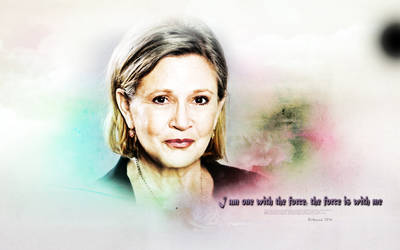 Carrie Fisher - Force is with me... by Belanna42