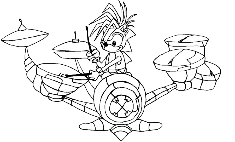 sonic wolf coloring pages - photo#38