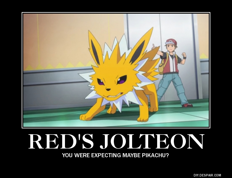Demotivator: Jolteon by PrettySoldierPetite