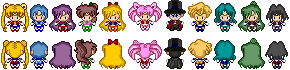 Pokemon Black and White Sprites: Sailor Senshi by PrettySoldierPetite