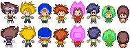 Pokemon Black and White Sprites: Digimon Adventure by PrettySoldierPetite