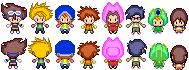 Pokemon Black and White Sprites: Digimon Adventure by PrettySoldierPetite