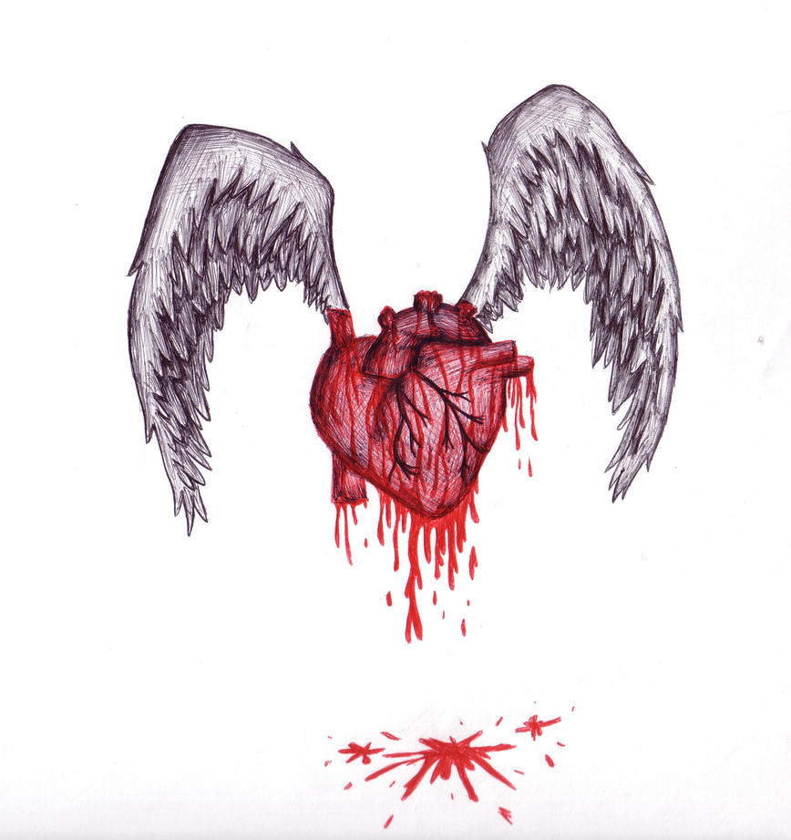 Broken Heart Tattoo Designs Black