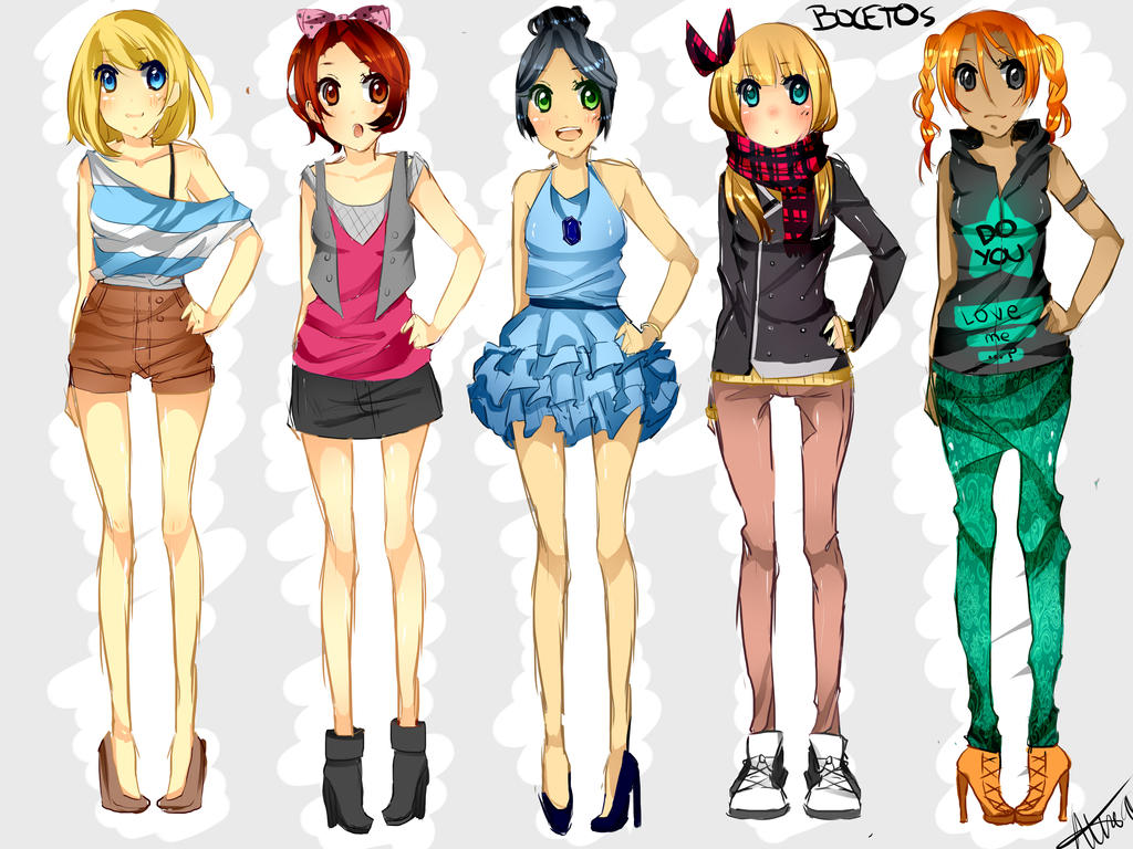clothing sketches by sakaesu on deviantart