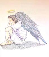 Little Castiel In Heaven by roo-111