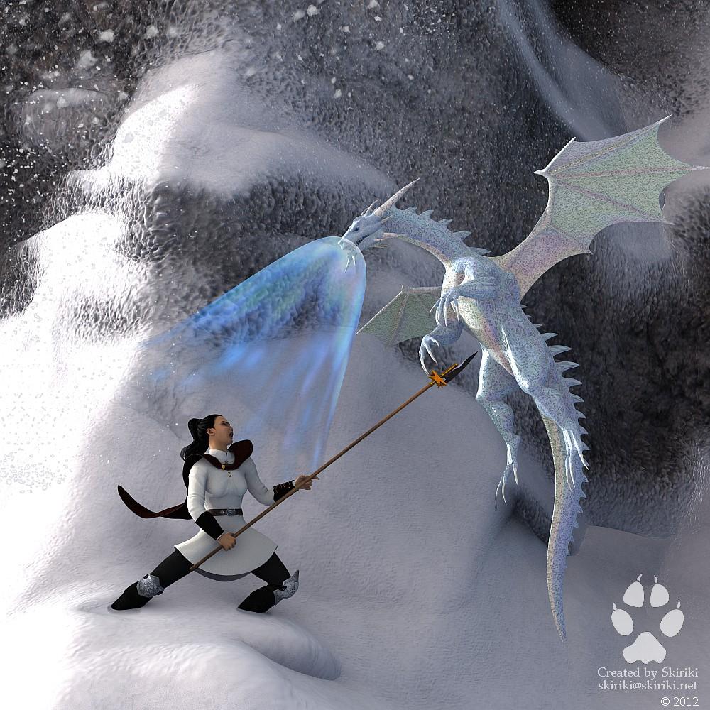 Commission: Alteri, part 4: Ice Drake! by Skiriki