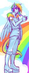 RainbowDash Brony by Feicoon