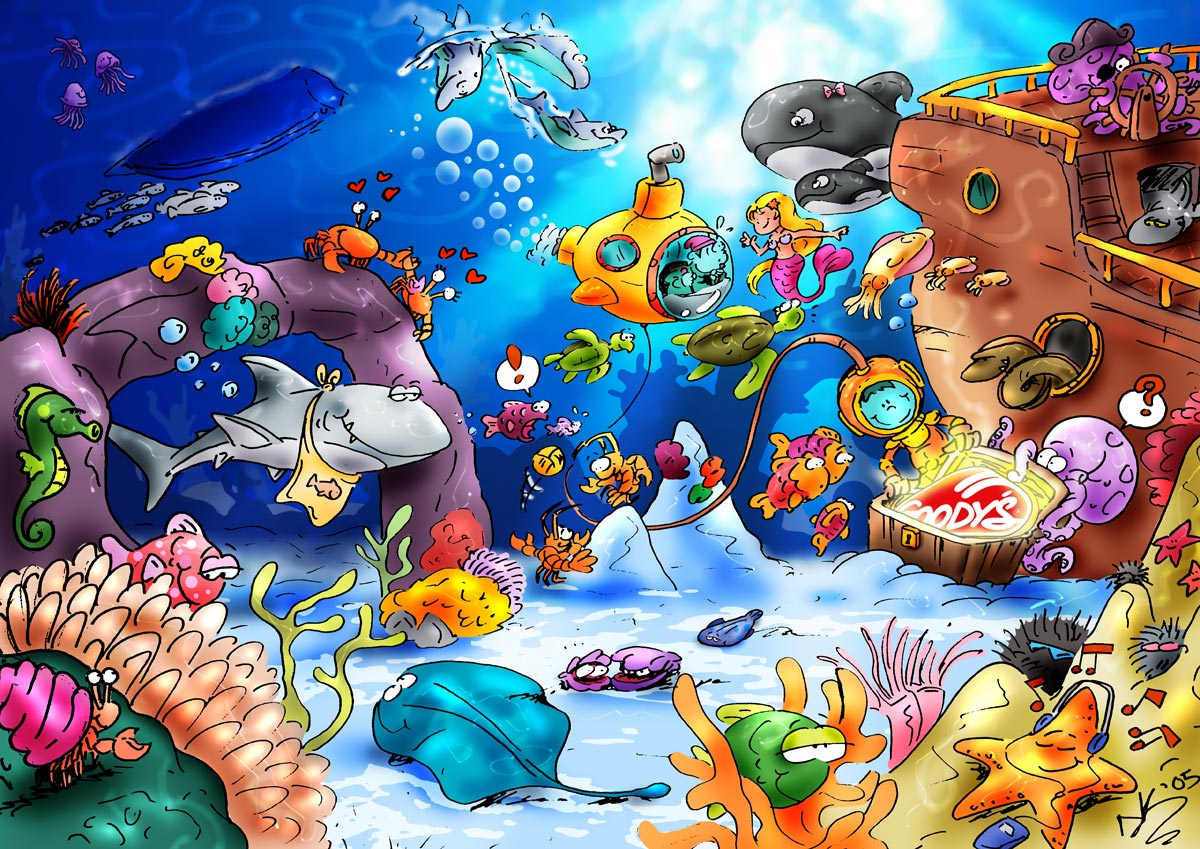 underwater cartoon wallpaper - photo #16
