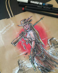 Paperbag Gunslinger by TheOutcast1821