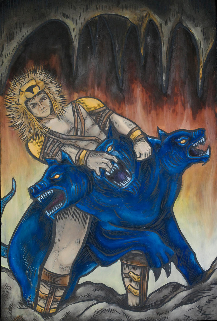 Hercules vs Cerberus by gabby023 on DeviantArt