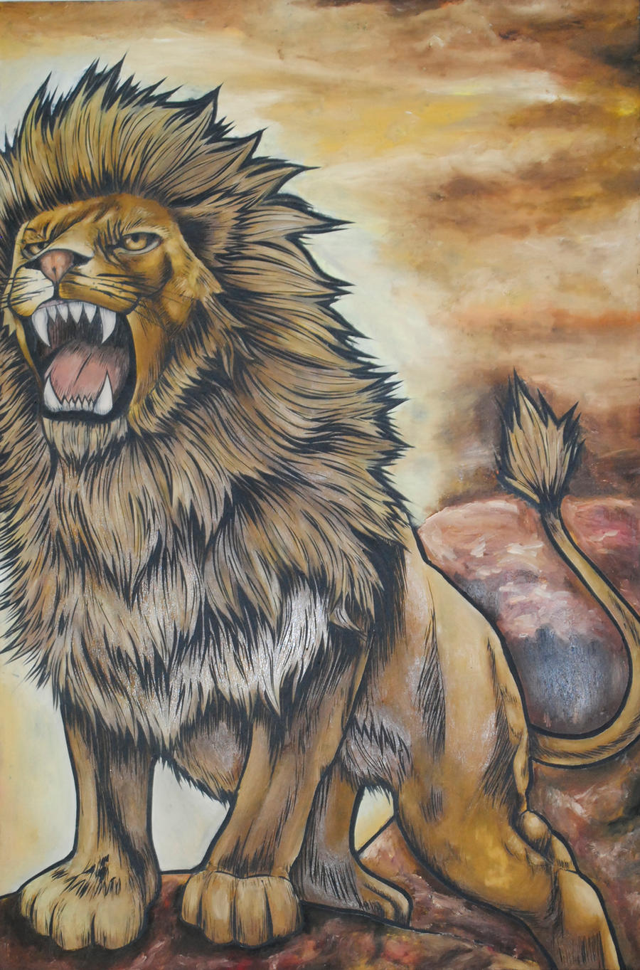 Nemean lion drawing - photo#23