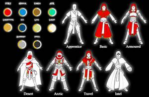 Mizani - Mage Robe Variants and Colour Guide by Diyaru4500