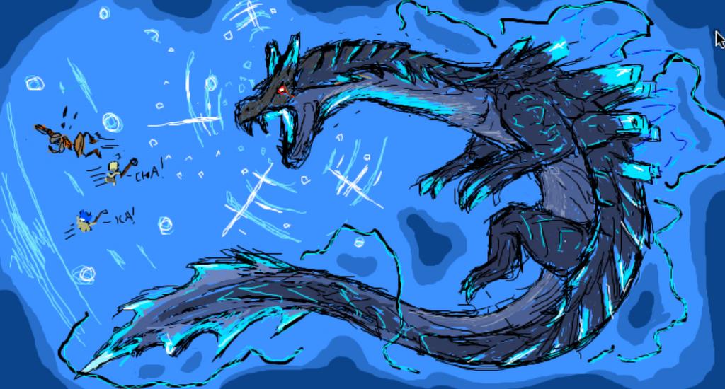 iScribble - Abyssal Lagiacrus by Diyaru4500