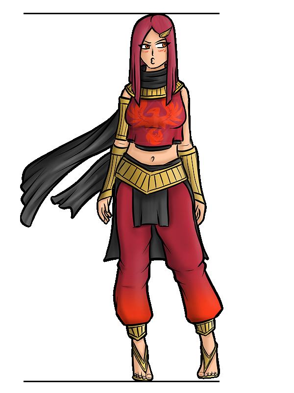RWBY - Ember's Alt Outfit by Diyaru4500