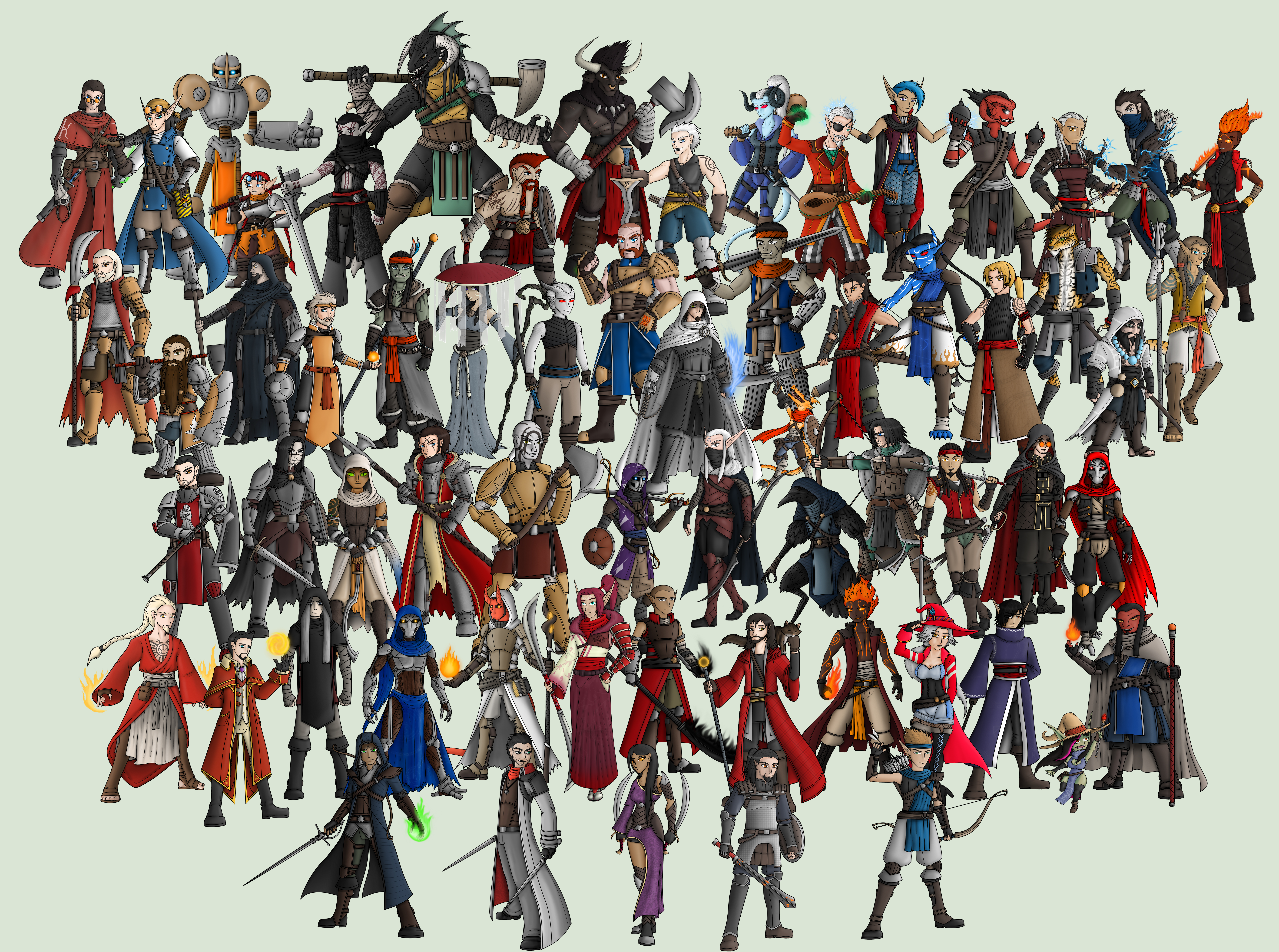 Dnd Character Gallery V6 By Diyaru4500 On Deviantart A guide to the monk in 5th edition dungeons and dragons. deviantart