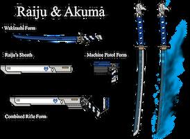 RWBY Weapons - Raiju and Akuma