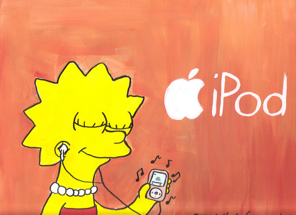 Lisa listening her iPod by DJgames