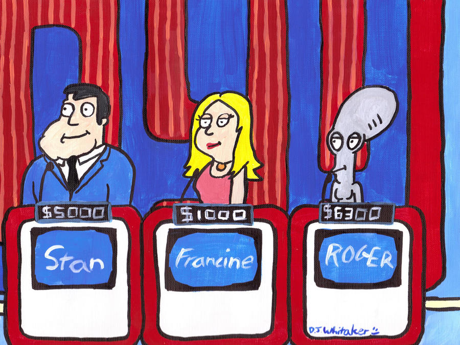 Cartoon Characters Jeopardy : American dad on jeopardy by djgames deviantart